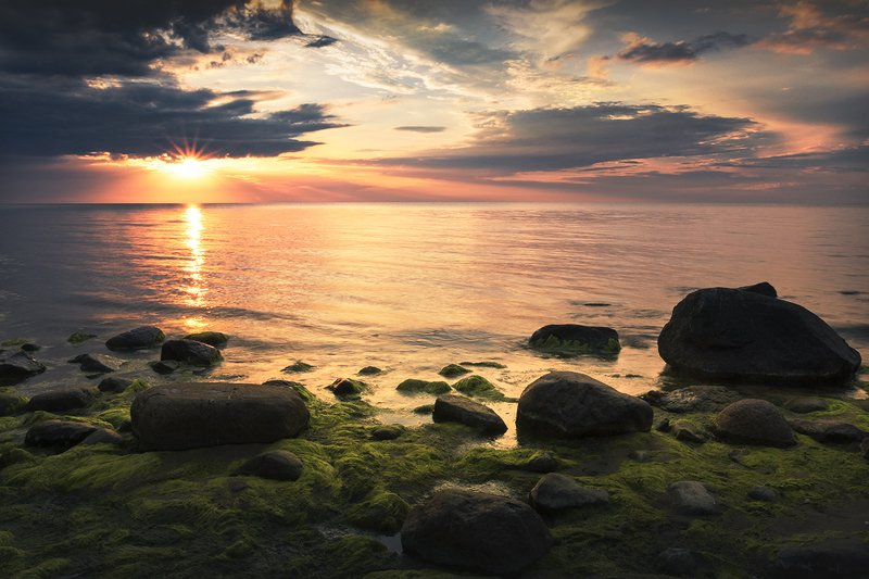 Summer evening at the Baltic Sea ...