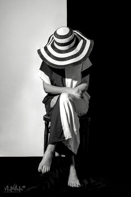 #hat, #summer #black & white summer hatphoto preview