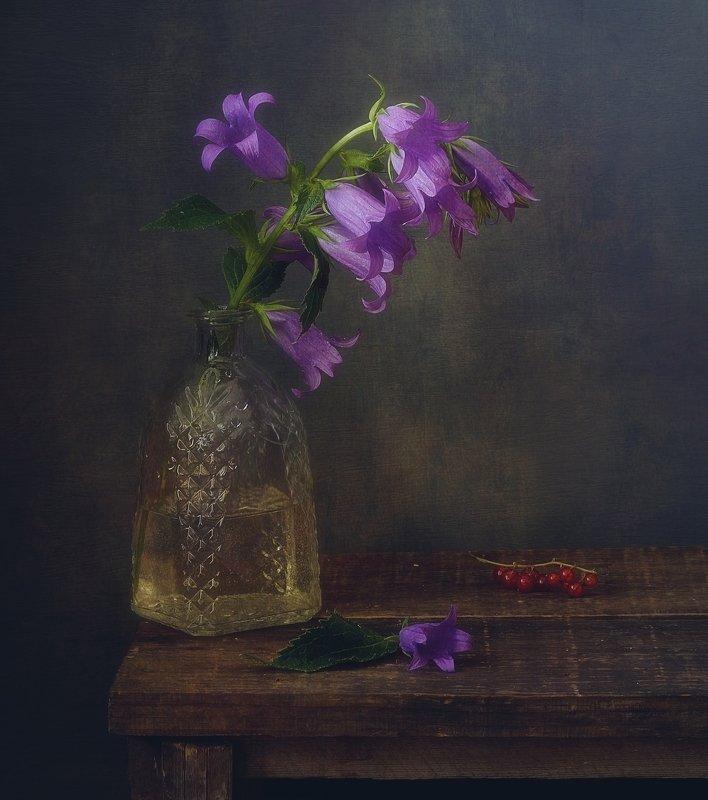 натюрморт,цветы,лето,колокольчик ///photo preview