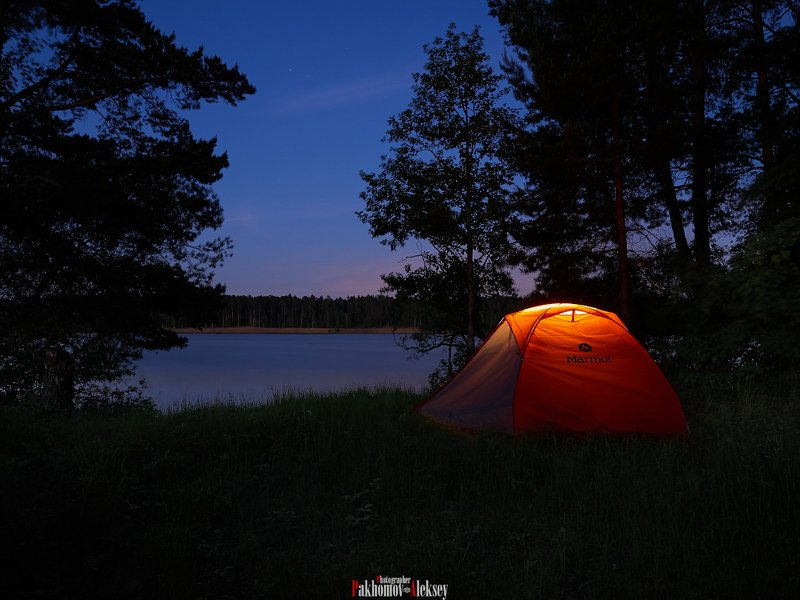 nature, river, night, landscape, color, camping On the banks of the Volga riverphoto preview