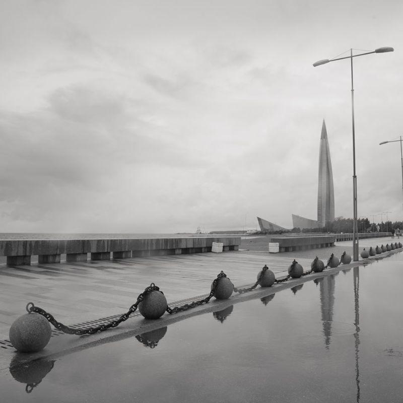 чёрно-белое, парк 300-летия, финский залив, лахта, санкт-петербург Воздух и водаphoto preview