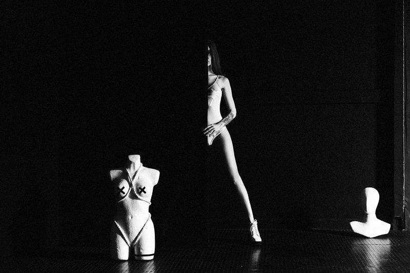 woman, beauty, portrait, art, studio, light Split of the Mindphoto preview