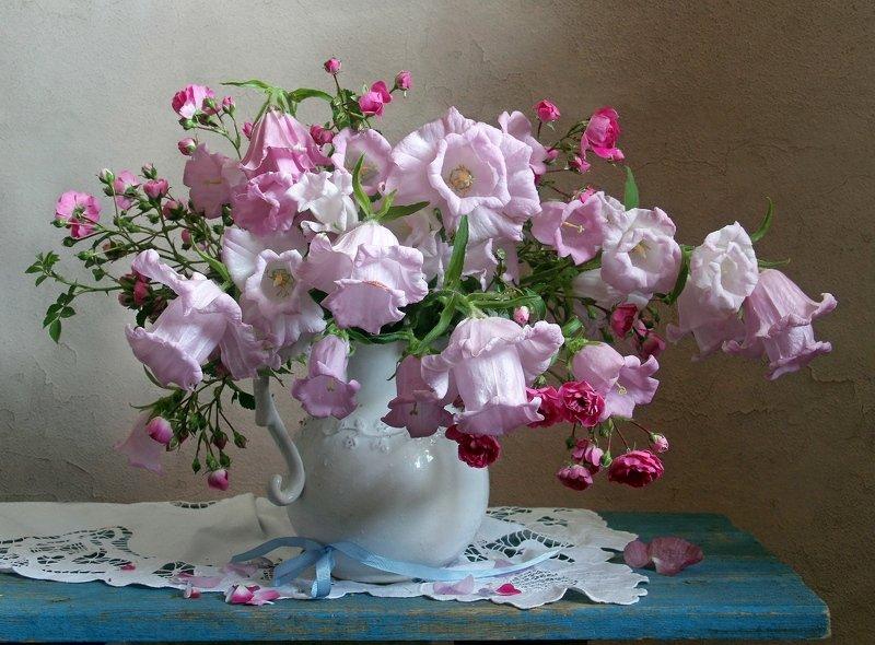 лето,  цветы, натюрморт, колокольчики, марина филатова Нежный звон колокольчиковphoto preview