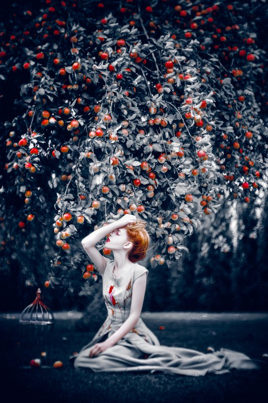 woman, beauty, portrait, art, outdoors I\'m Eve in The Garden of Edenphoto preview