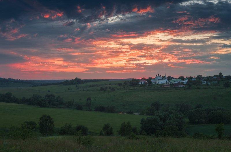 пейзаж, тульская область, вечер, лето, природа Вечер у монастыряphoto preview