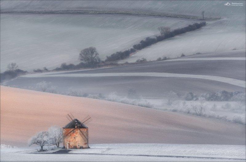Чехия, Южная Моравия, мельница, зима, Czech republic, South Moravia, winter, windmill Провинциальная идиллия ..photo preview