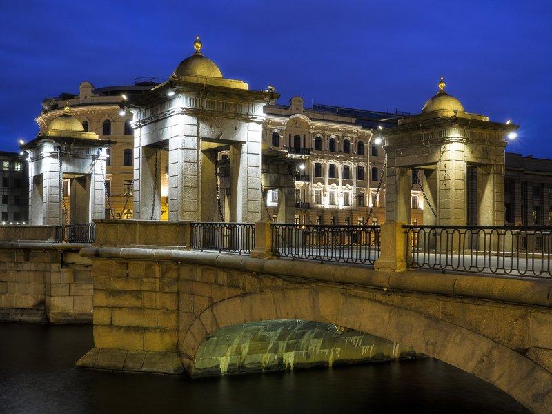 мост ломоносова в санкт-петербурге белой ночьюphoto preview