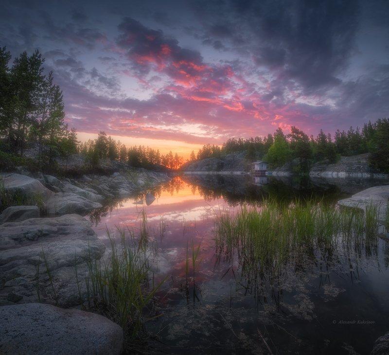ладога,утро,рассвет,пейзаж,шхеры Июньская Ладога...photo preview