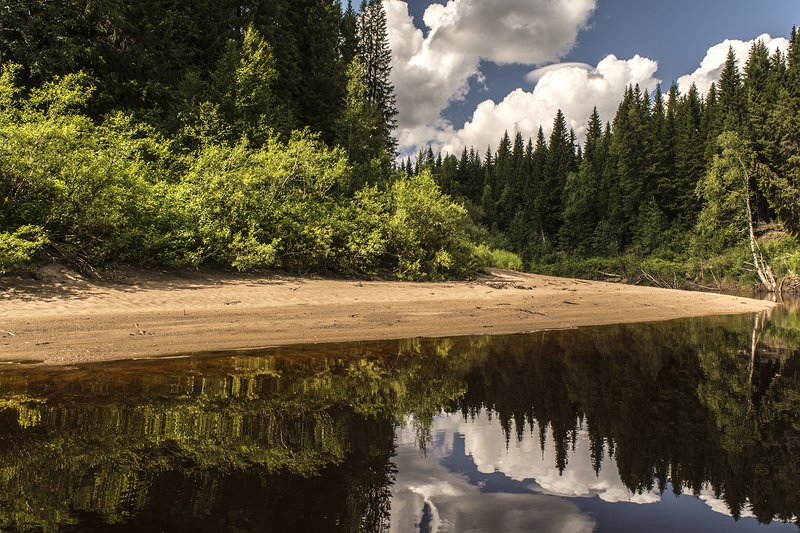 Отражение в реке Сюзьма.photo preview
