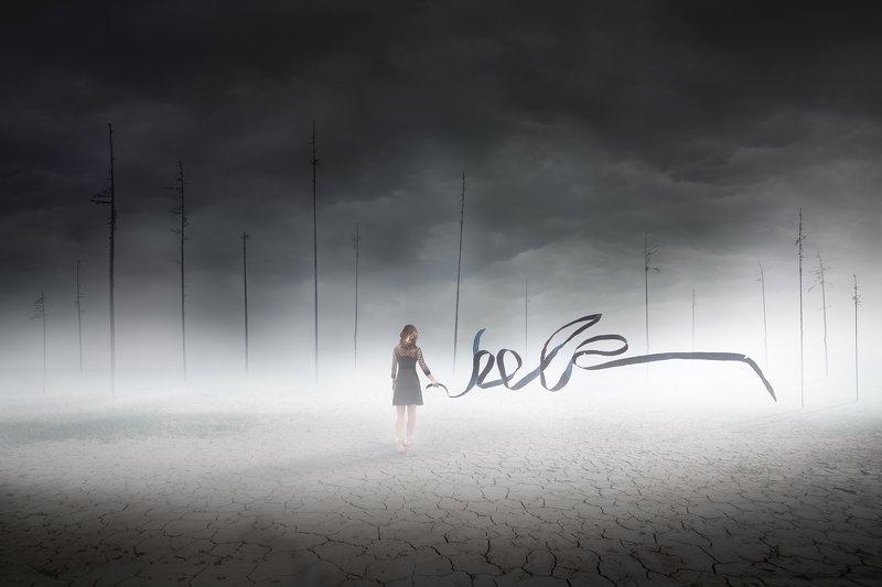 mood,landscape,forest,fog,photoshop,girl,woman,fairytail Escape for Helpphoto preview