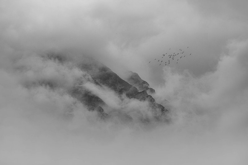 art, fineart, blackandwhite Among the cloudsphoto preview