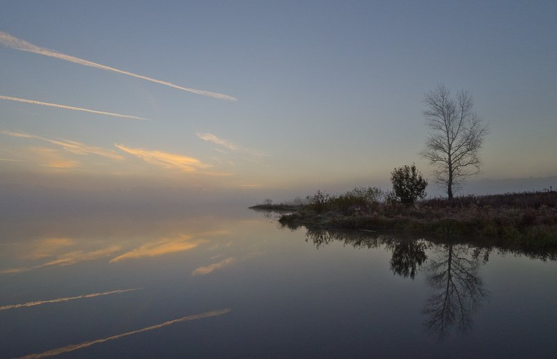 утро, туман, архангельское Утренний мысphoto preview