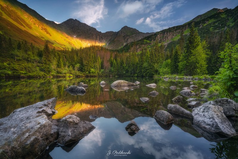 tatras, tatra mountains,mountains,mountain, summer,lake, mirror, reflection, colours, sunset, Iceland mirrorphoto preview