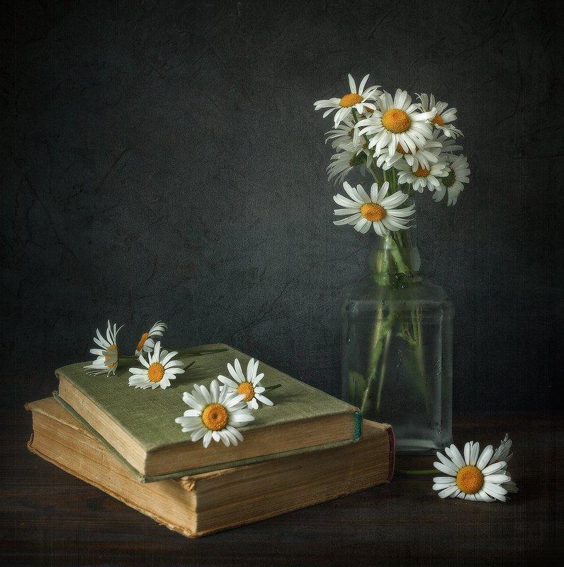 натюрморт ромашки графин книги Ромашковая меланхолияphoto preview