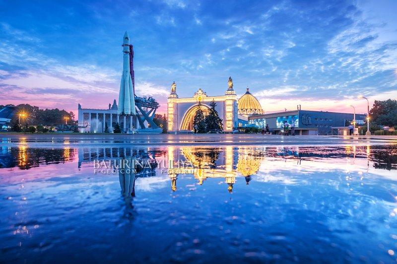 москва, ввц, вднх Синий закат на ВДНХphoto preview