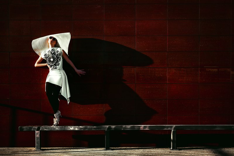 woman, beauty, fashion, art, outdoors Dancing with Shadowphoto preview