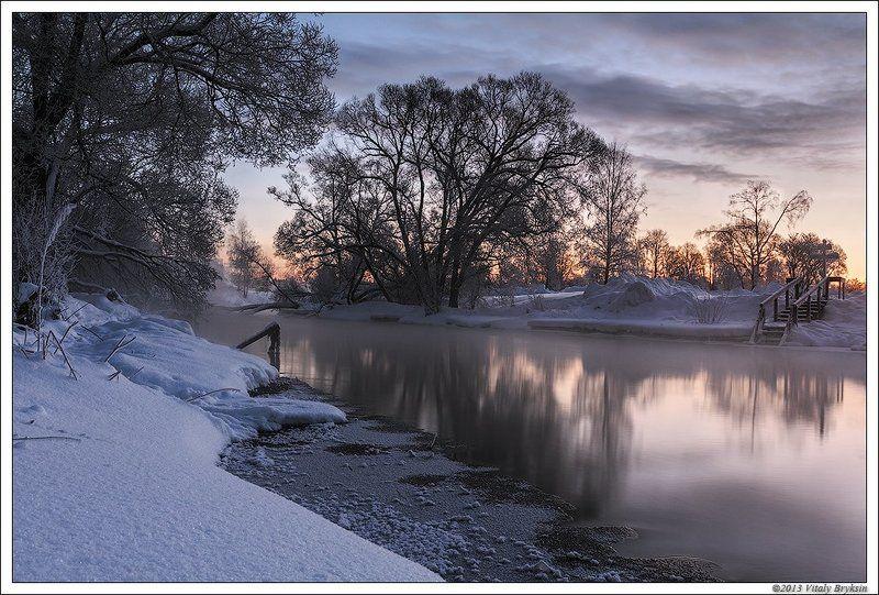Одно зимнее утро на реке.photo preview