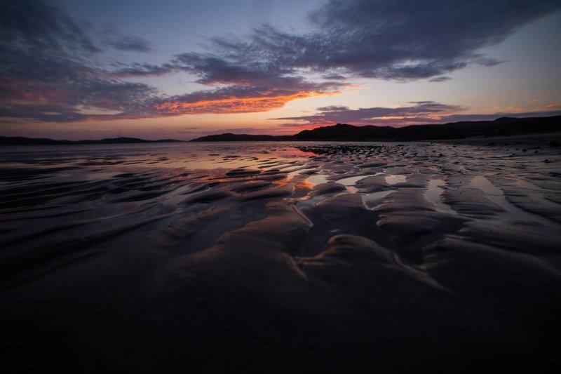 море, север, териберка, северный ледовитый океан, лето, море Баренцево море на закатеphoto preview