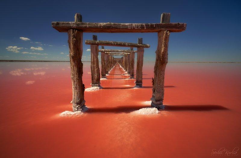 солёное озеро, розовое озеро Through the gatesphoto preview