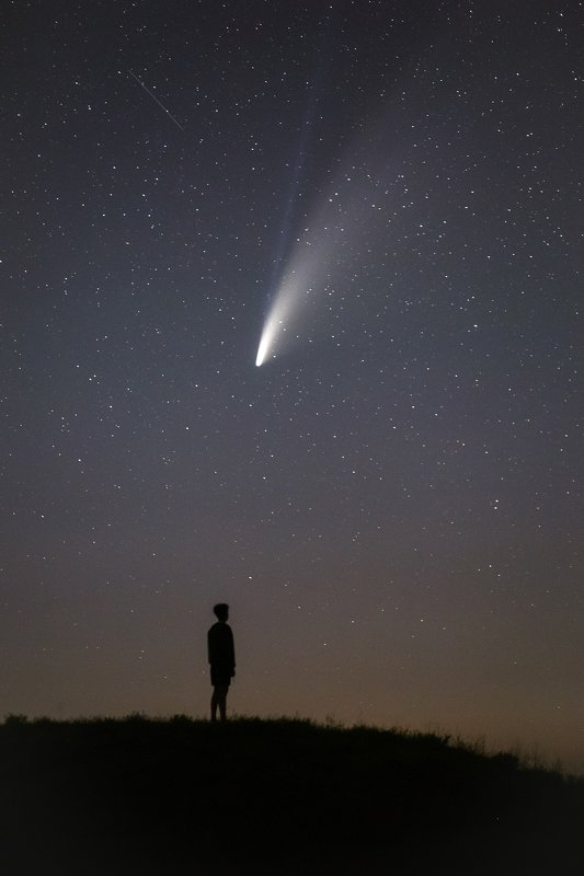 крым, ночь, звезды, комета, комета neowise, neowise, ночной пейзаж, астрофото, тарханкут, межводное Маленький принцphoto preview