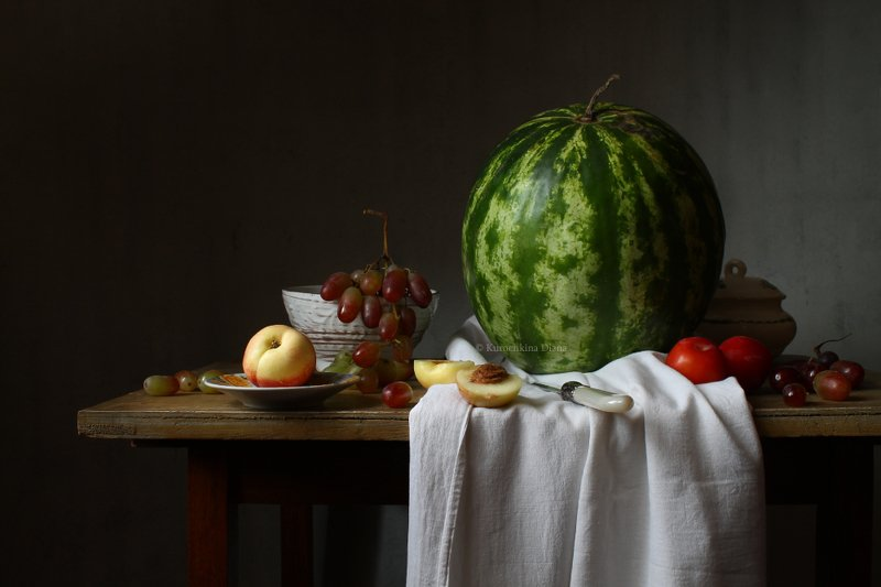 натюрморт, арбуз, фрукты Арбузphoto preview