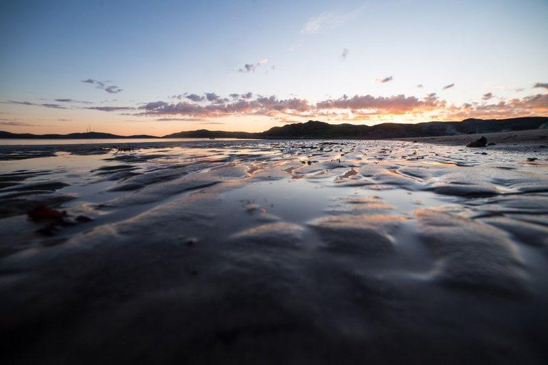 север, пейзаж, ночь, рассвет, море, териберка, солнце Ночь на севереphoto preview