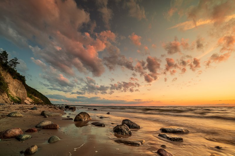 sunset, sky, sea, sand,travel, Wolinski Park Narodowyphoto preview