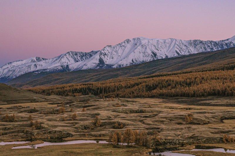джангысколь,осень,горный алтай,северо-чуйский хребет Сумерки над Джангысколем.photo preview