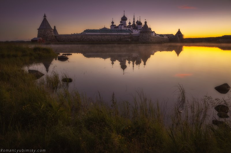 пейзаж, россия, роман любимский, утро, рассвет, соловки Солове́цкий монасты́рьphoto preview