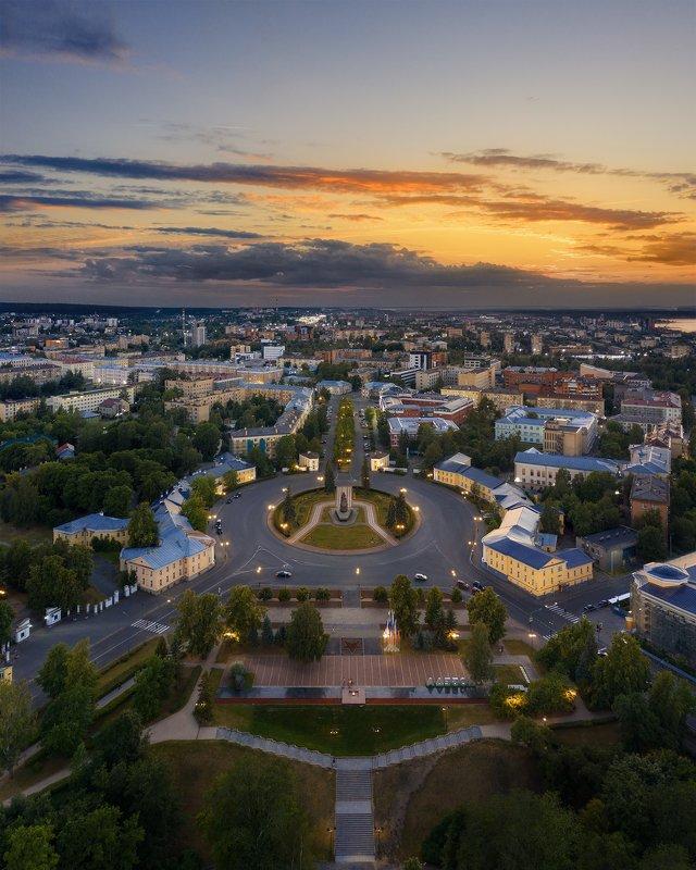 аэросъемка, город, петрозаводск Площадь Ленинаphoto preview