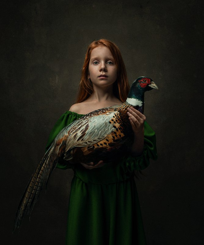 girl,portrait,bird,abstract,conceptual,dark,moody Hannaphoto preview