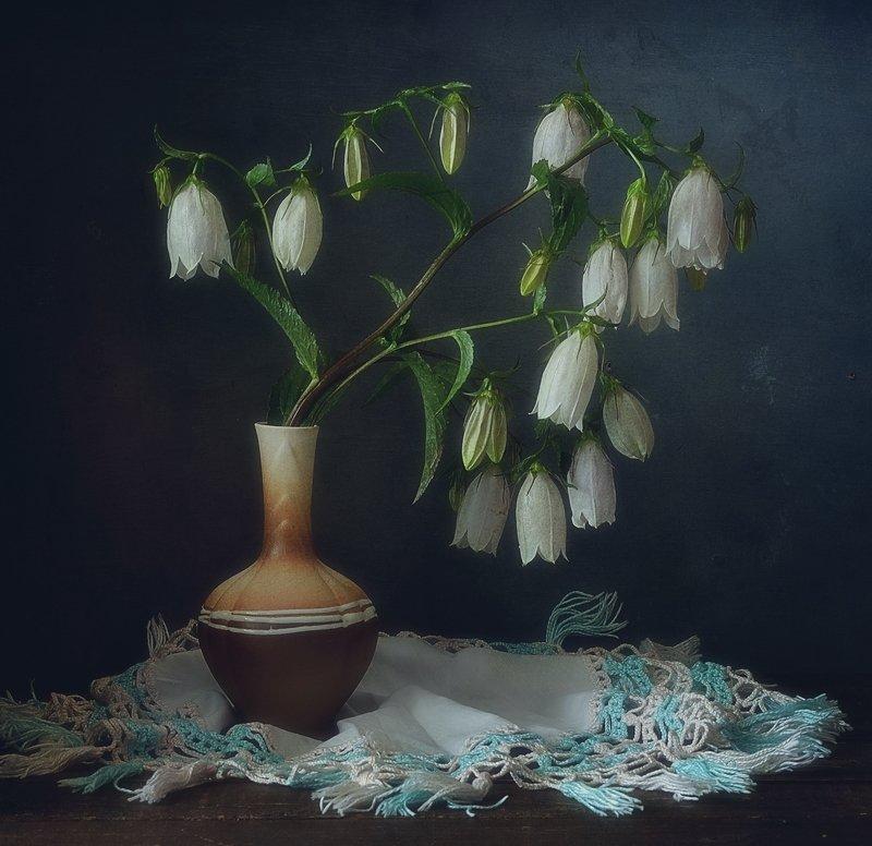 натюрморт,цветы,колокольчики с колокольчиками... фото превью
