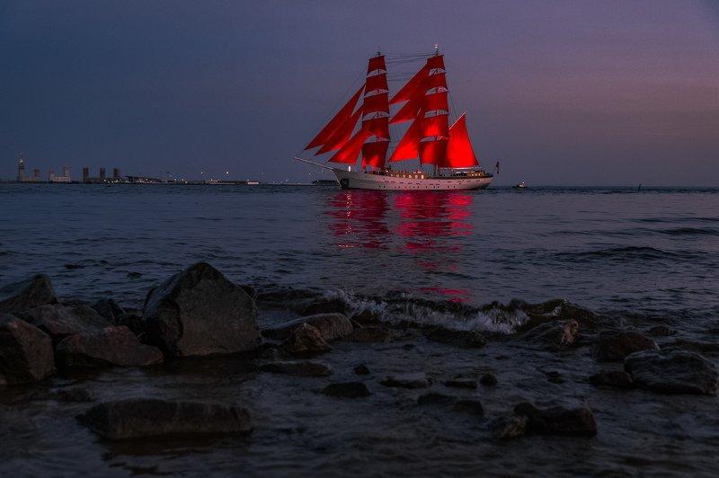 алые паруса, пейзаж Алые Паруса в вечерней тишинеphoto preview