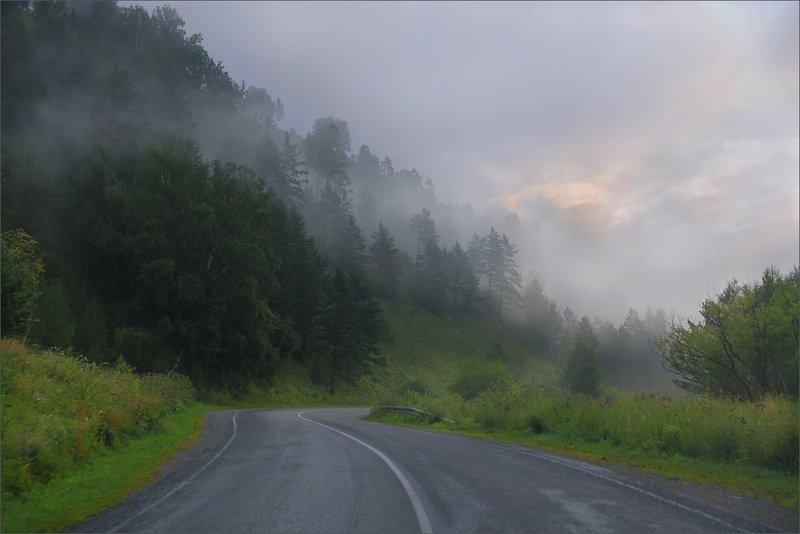 по дорогам алтая Туманный рассветphoto preview