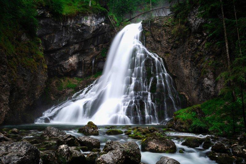 австрия, альпы, дахштайн, европа, горы, водопад, вода, лес,пейзаж, голинг, waterfall, water, austria, mountains, river, flow, поток, rain, forest, landscape Водопад Голингерphoto preview