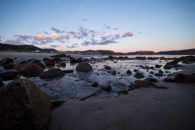 утро, берег, солнце, восход, море Утроphoto preview
