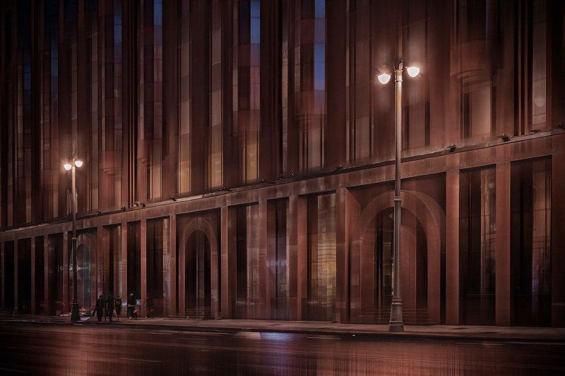 вечер, город, москва, улица Шоколадное настроениеphoto preview