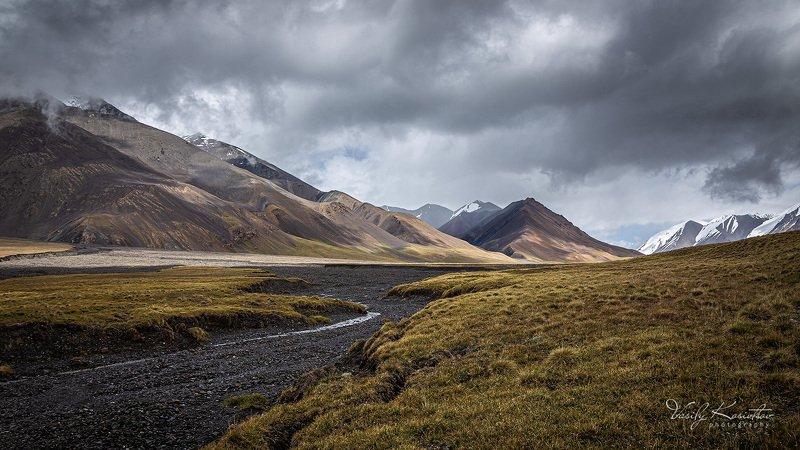 кыргызстан, горный массив ак-шийрак, долина реки карасай, июль 2020 ... про июльское утроphoto preview
