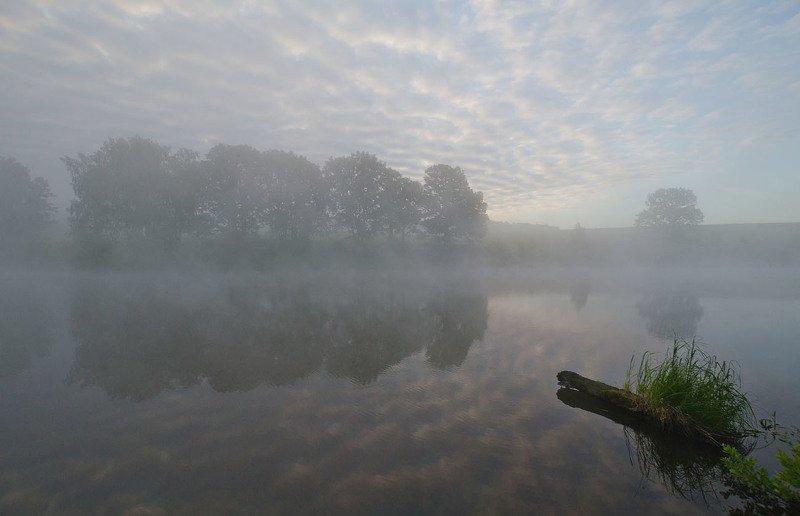 утро, туман, озеро новое, грумант Очарование продлится...photo preview