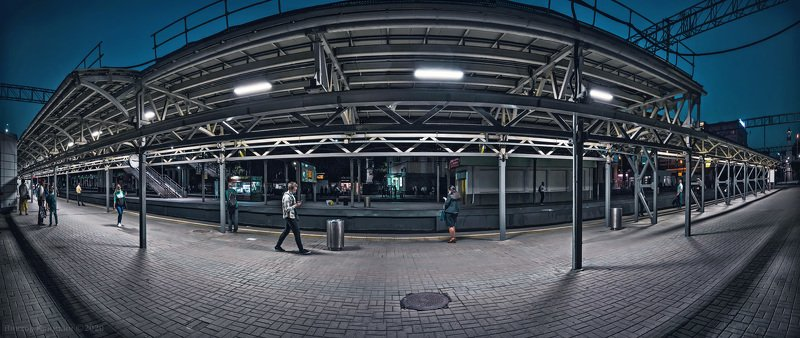 москва, вокзал, перрон, пассажиры, платформа, вечер Ожидание поездаphoto preview