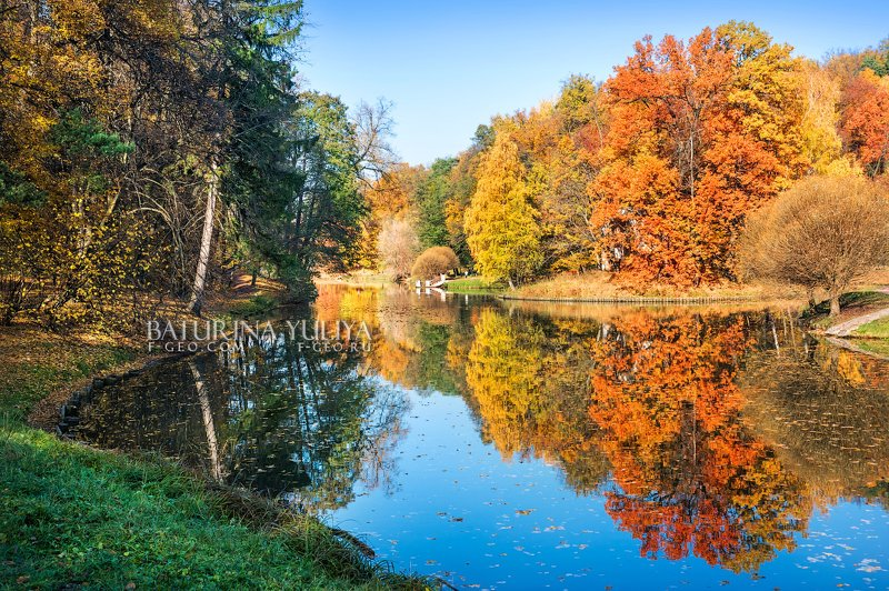 москва, царицыно, осень Отражения осениphoto preview