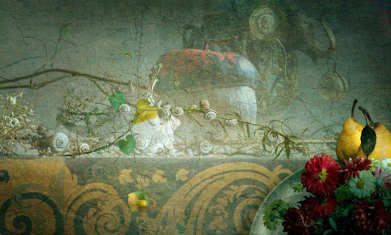 улитка тыква ракушка натюрморт груша С тыквой.photo preview