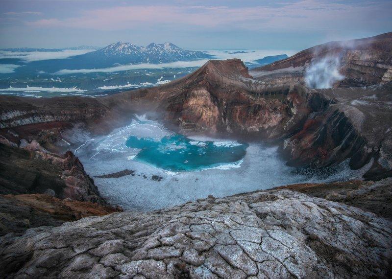камчатка Кратер вулкана Горелый. фото превью