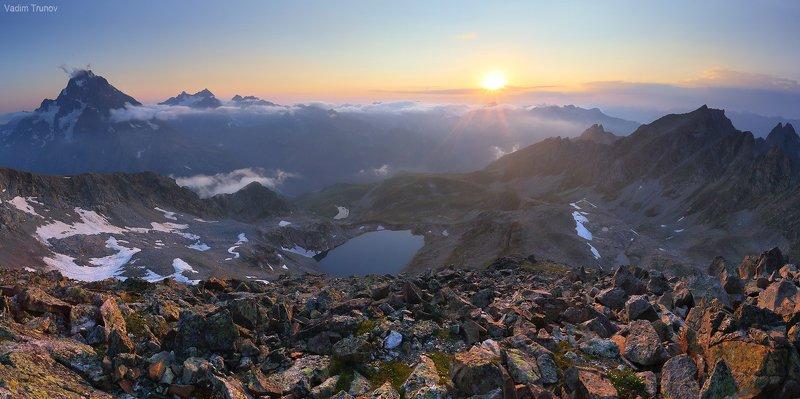 кавказ, кёль-баши, кчр Закат с вершины Кёль-Башиphoto preview
