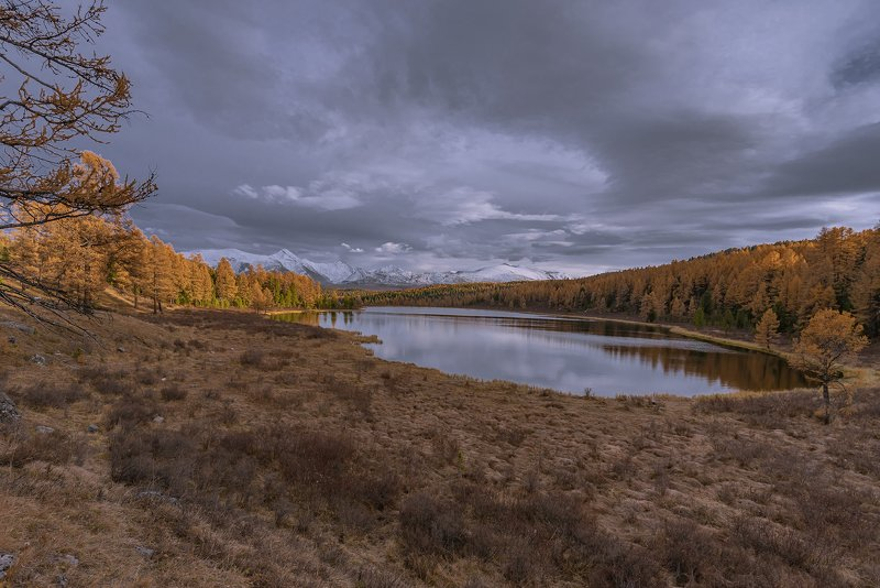 алтай,горный алтай,осень,закат,киделю У озераphoto preview