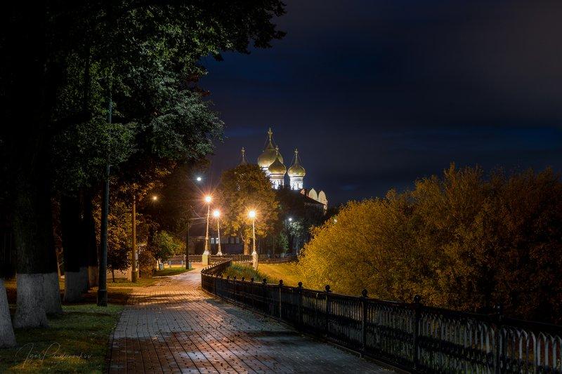 аллеи, набережная, успенский, ночь, фонари Ночная открыткаphoto preview