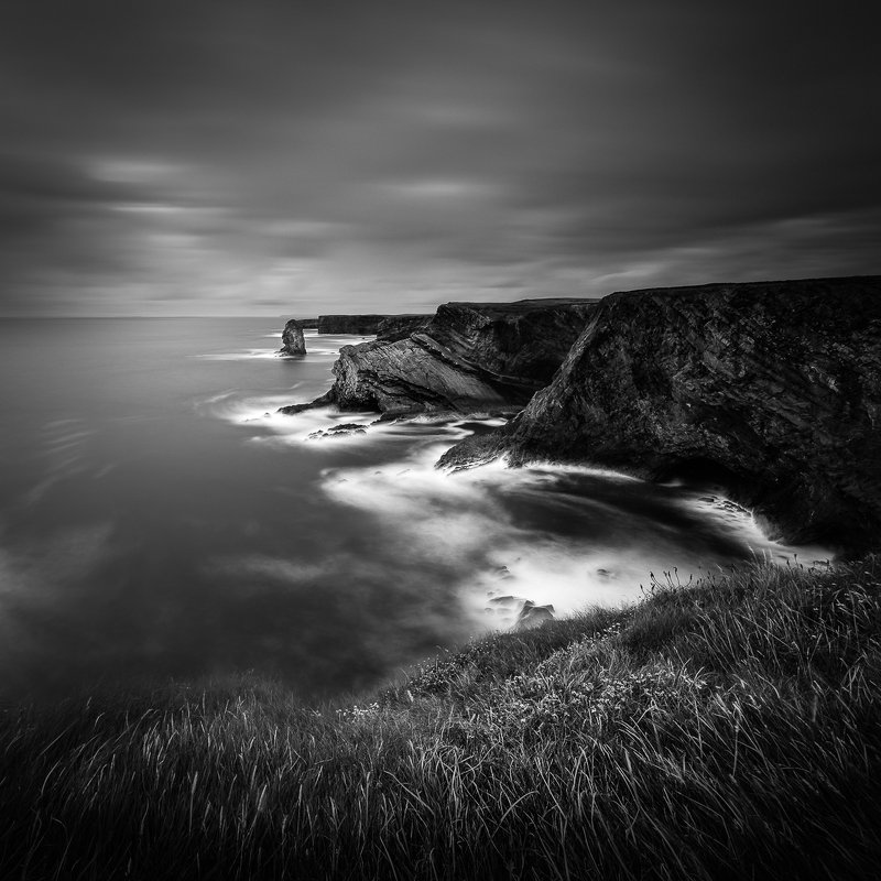 landscapes, long exposure, Ireland,  Kilkee Cliffsphoto preview