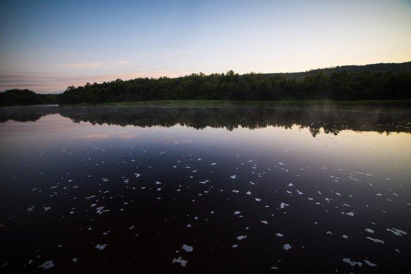 река, течение, ночь, закат Тишина в ночиphoto preview