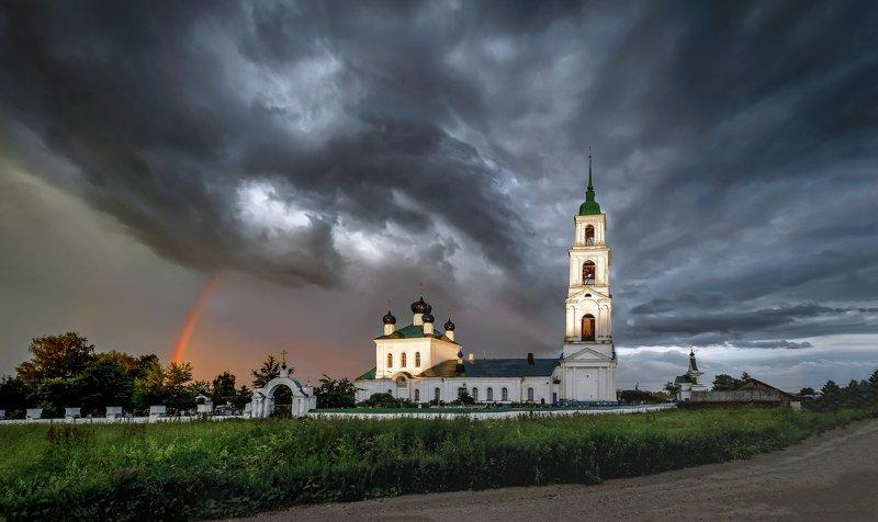 гроза, радуга,тучи, храм, церковь, Гроза начинается...photo preview