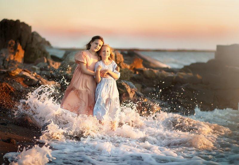 девочки,лето,море,summer,girl,kid, sea Sistersphoto preview